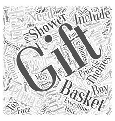 Baby shower gift baskets word cloud concept vector