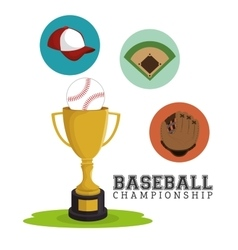 Baseball club sport label trophy vector