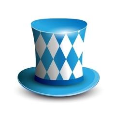 Bavaria Hat Oktoberfest background Bavarian flag vector image