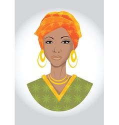 Beautiful black woman vector image vector image