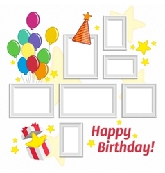 Birthday frame set vector image vector image
