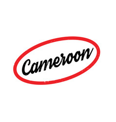 cameroon rubber stamp vector image vector image