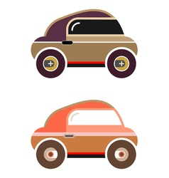 car auto - cartoon icon isolated images on white b vector image vector image