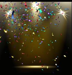 Colorful Sparkling Confetti vector image vector image