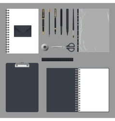 Corporate identity design Empty elements template vector image vector image