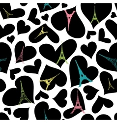 Eifel Tower Paris Seamless Repeat Pattern vector image vector image