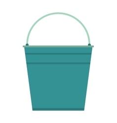 Empty bucket icon vector image