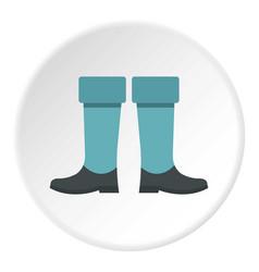 Fishing boots icon circle vector