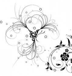 floral butterfly vector vector image vector image