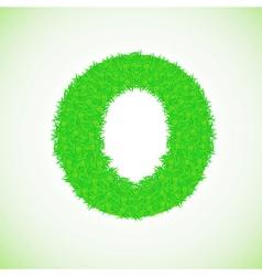 grass letter O vector image