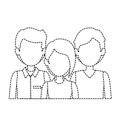 group of business people vector image