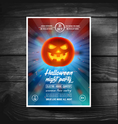halloween party flyer or leaflet covers banners vector image vector image