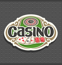 logo for casino vector image
