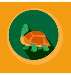 Modern Flat Design Turtle vector image