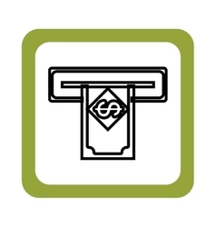 Money dispenser hole icon vector