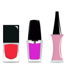nail polishes vector image