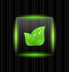 Neon Green Leaves Background vector image