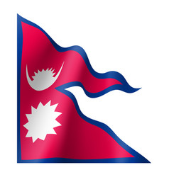 nepal flag flat style vector image