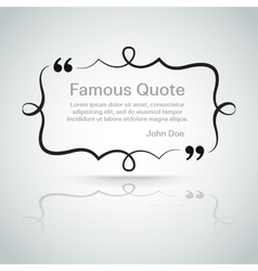 Quote border vector