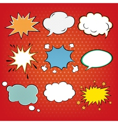 Set of Comics Bubbles in Pop Art Style vector image vector image