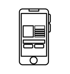 smartphone with ecommerce app device isolated icon vector image vector image