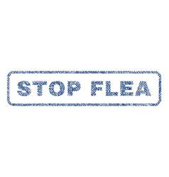 Stop flea textile stamp vector