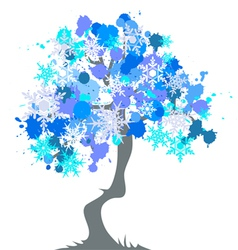 winter - abstract tree vector image vector image