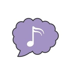 Music note bubble sound icon vector