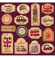 London tags vector image