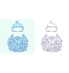 Beard god neptune vector