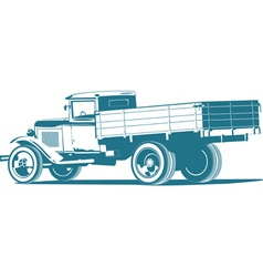 Monochrome retro lorry vector