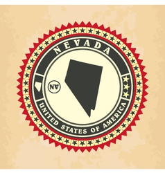 Vintage label-sticker cards of nevada vector
