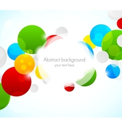Abstract colorful background with circles vector