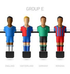 Table football foosball players Group E vector image