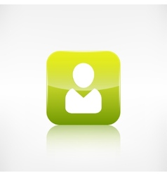Person icon application button vector