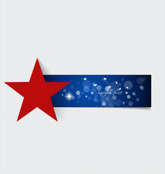 Note paper with red star ready for your message vector
