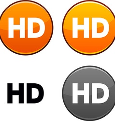 Hd button vector
