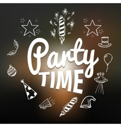 Party time with hand drawn elements vector