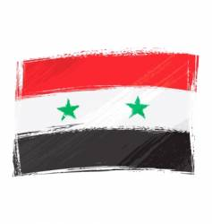 grunge Syria flag vector image