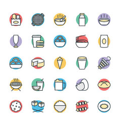 Food Cool Icons 10 vector image
