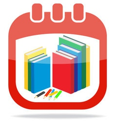 Icon calendar days of knowledge vector