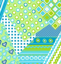 Patchwork cover for baby boy vector