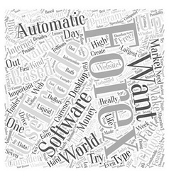 Automatic forex trading software word cloud vector