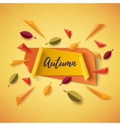 Autumn banner with abstract leafs vector image vector image