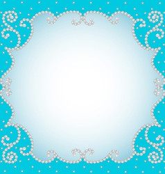 background frame with pearls vector image vector image