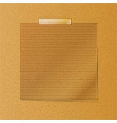 brownpaper note on texture background vector image vector image