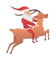 Cartoon deer animal vector image