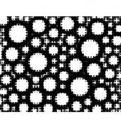 circle grunge vector image vector image