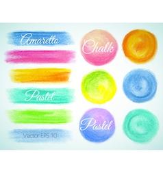 Crayon design swabs balls vector image