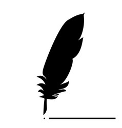 feather the black color icon vector image